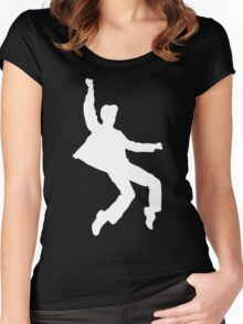 White Elvis Women's Fitted Scoop T-Shirt