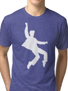 White Elvis Tri-blend T-Shirt