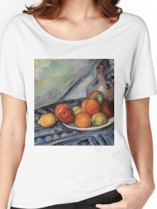 Paul Cezanne - Fruit and a Jug on a Table  Impressionism  Still Life Women's Relaxed Fit T-Shirt