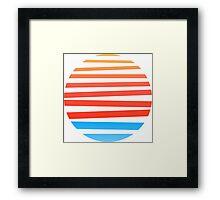 Circular Sunset Framed Print