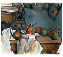 Paul Cezanne - Ginger Pot with Pomegranate and Pears 1893 Impressionism  Still Life Poster