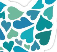 Peace dove of hearts Sticker