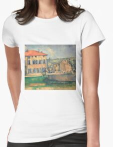Paul Cezanne - House in Aix 1885 - 1887 Impressionism  Landscape Womens Fitted T-Shirt