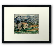 Paul Cezanne - House in Provence 1886-1890 Impressionism  Landscape Framed Print
