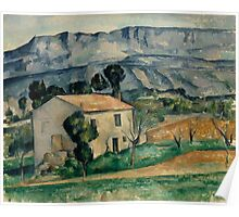 Paul Cezanne - House in Provence 1886-1890 Impressionism  Landscape Poster