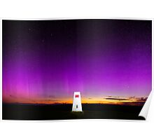 Northern Lights over Wales Poster