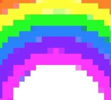 Rainbow pixel Sticker