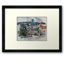 Paul Cezanne - Landscape 1888 - 1890 Framed Print