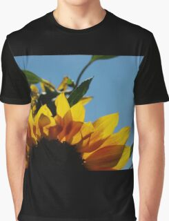 Alberta Sunflower Blue Sky Graphic T-Shirt