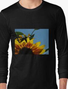 Alberta Sunflower Blue Sky Long Sleeve T-Shirt
