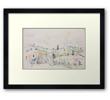 Paul Cezanne - Landscape in Provence between 1895 and 1900 Framed Print