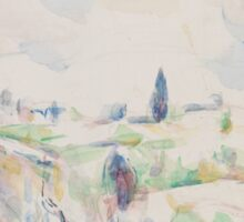 Paul Cezanne - Landscape in Provence between 1895 and 1900 Sticker