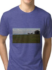 Alberta Panorama - God's Country Tri-blend T-Shirt