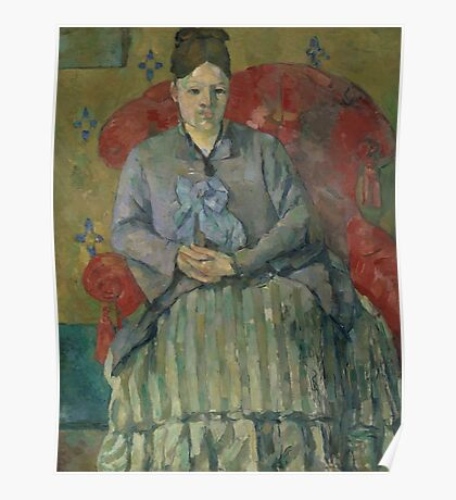 Paul Cezanne - Madame Cezanne in a Red Armchair  1877 Poster