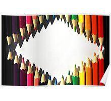 Colored Pencil Diamond Shape Poster