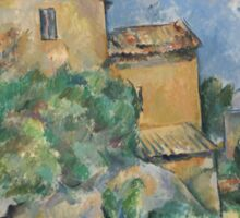 Paul Cezanne - Maison Maria with a View of Chateau Noir  1895 Sticker