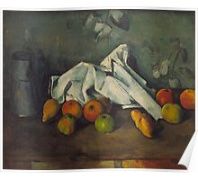 Paul Cezanne - Milk Can and Apples 1879 - 1880 Poster
