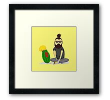 Hipster and Walter Framed Print