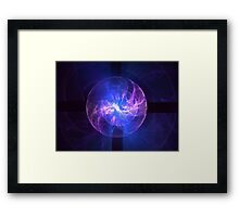 Static Sphere Framed Print
