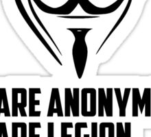 We are Anonymous Sticker
