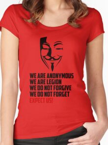 We are Anonymous Women's Fitted Scoop T-Shirt