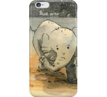 Elephant sketch iPhone Case/Skin