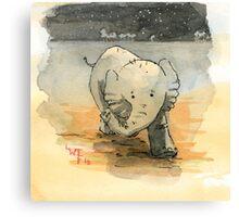Elephant sketch Canvas Print