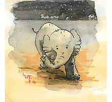 Elephant sketch Photographic Print