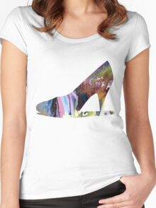 High heels Women's Fitted Scoop T-Shirt