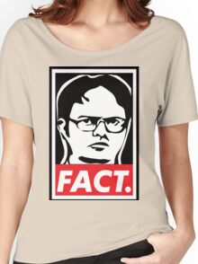 "The Office: Dwight ""FACT' Obey Women's Relaxed Fit T-Shirt"