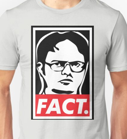 "The Office: Dwight ""FACT' Obey Unisex T-Shirt"