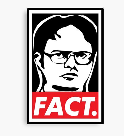 """The Office: Dwight """"FACT' Obey Canvas Print"""