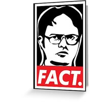 """The Office: Dwight """"FACT' Obey Greeting Card"""
