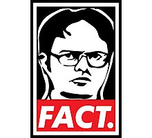 """The Office: Dwight """"FACT' Obey Photographic Print"""