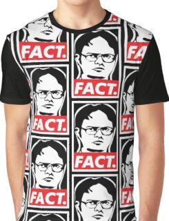 """The Office: Dwight """"FACT' Obey Graphic T-Shirt"""