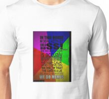 In this house, we do memes Unisex T-Shirt