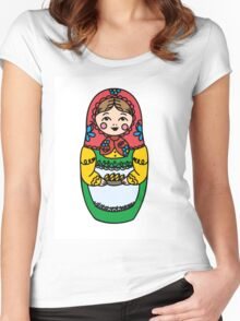 Colorful Russian dolls - matryoshka Women's Fitted Scoop T-Shirt