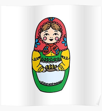 Colorful Russian dolls - matryoshka Poster