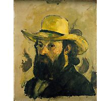 Paul Cezanne - Self-Portrait in a Straw Hat 1875 - 1876 Photographic Print
