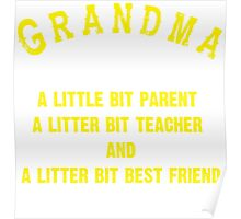 Meaningful Gift for Grandma for Mother's Day Poster