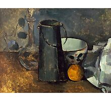 Paul Cezanne - Still Life with Carafe, Milk Can, Bowl, and Orange 1879-1880 Photographic Print