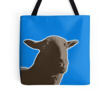 Black sheep on a variety of colorful backgrounds Tote Bag