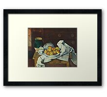 Paul Cezanne - Still Life with Commode  1887 - 1888 Framed Print