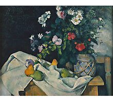 Paul Cezanne - Still Life with Flowers and Fruit 1888 - 1890 Photographic Print