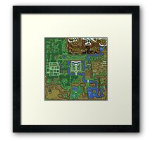 The map of 1991 Framed Print