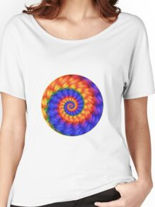 Beautiful Psychedelic Rainbow Spiral  Women's Relaxed Fit T-Shirt