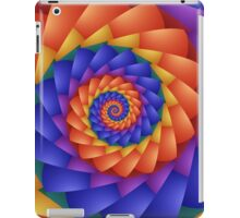 Beautiful Psychedelic Rainbow Spiral  iPad Case/Skin