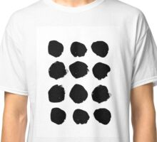 Black and white minimal modern dots polka dot hipster brooklyn dorm college gender neutral Classic T-Shirt