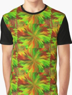 Abstract Colours Graphic T-Shirt