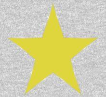 Yellow Star One Piece - Short Sleeve